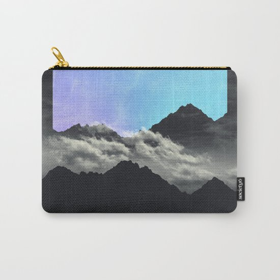 echo mountains Blue Carry-All Pouch
