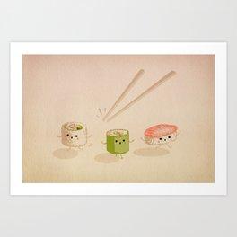 Running Sushi Art Print