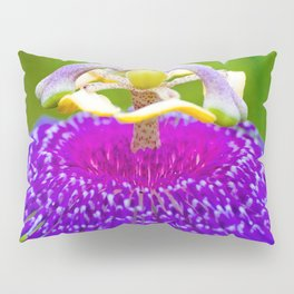Macro Photography of Exotic Violet Flower Pillow Sham