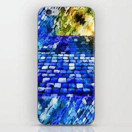 CobbleStone in Blue Oil iPhone Skin
