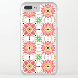 morrocan pink mandala pattern no4 Clear iPhone Case