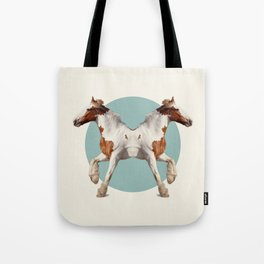Double Animals: Horses Tote Bag