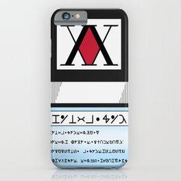 HxH Licence  iPhone Case