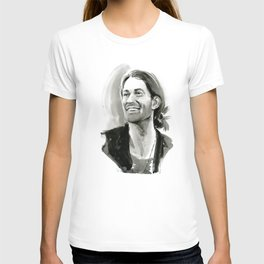 portrait of laughing man T-shirt