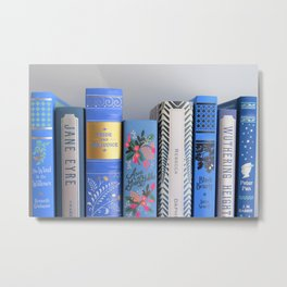 Shelfie in Blue Metal Print