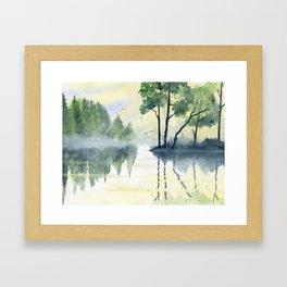 Foggy Morning 2 Framed Art Print