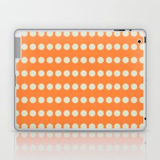 Circular Orange Dots Pattern Laptop & iPad Skin