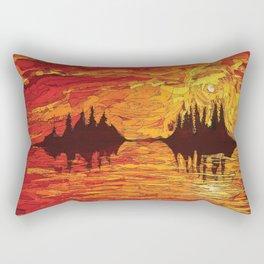 Raging Sunset Rectangular Pillow