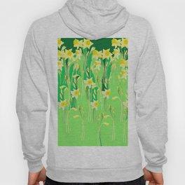 Daffodils in green Hoody