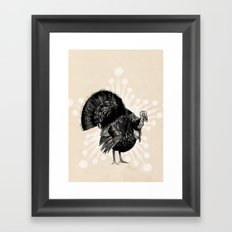 Christmas Turkey Framed Art Print