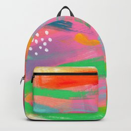 Abstract Colorful Modern Acrylic - BE POSITIVE, BE OK Backpack