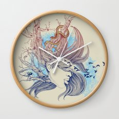 Tree Girl Wall Clock