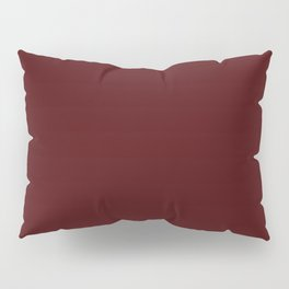 Simply Maroon Red Pillow Sham