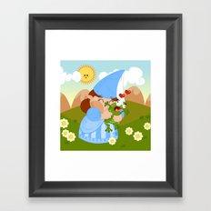 kissing the enchanted frog Framed Art Print