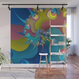 wet paint fractal  Wall Mural