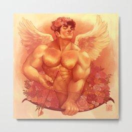 Eros In Roses Metal Print