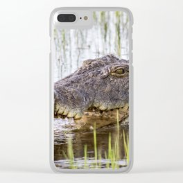 safari crocodile Clear iPhone Case