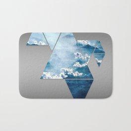 Fragmented Clouds Bath Mat