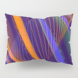 curved lines in architecure Pillow Sham