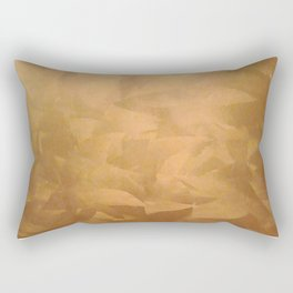 Brushed Copper Metallic - Beautiful - Rustic Glam - Fancy Faux Finishes - Unique Rectangular Pillow