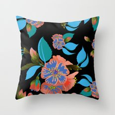 tas.color flower pattern Throw Pillow