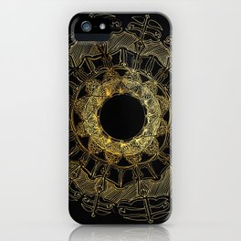 Gold Circle Design iPhone Case