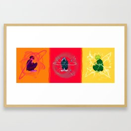 Psychic Triptych  Framed Art Print