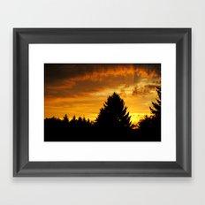 Sonnenaufgang Framed Art Print