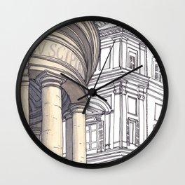 SANTA MARIA DELLA PACE, Rome Travel Sketch by Frank-Joseph Wall Clock