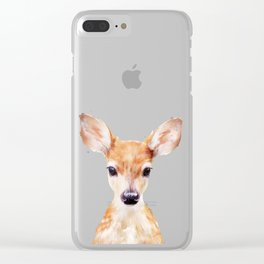 Little Deer Clear iPhone Case