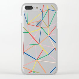 Ab Out Color B Clear iPhone Case