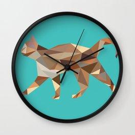 Poly Cat Wall Clock