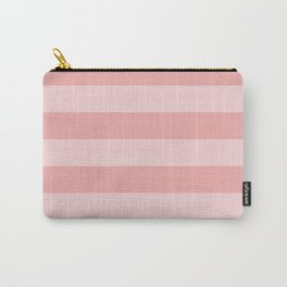 Large Blush Pink Glossy Cabana Tent Stripes Carry-All Pouch