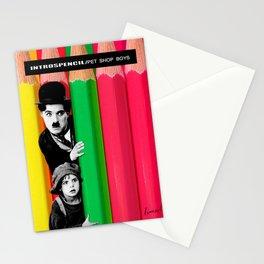INTROSPENCIL / Pet Shop Boys - Introspective - The Kid Chaplin - Digital Illustration - Pop Art Stationery Cards