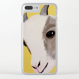 Original Painting - Farm Friends - Baby Goat Clear iPhone Case