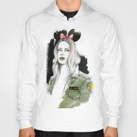 army Hoodies featuring Army Girl by Camis Gray