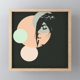 Softly black Framed Mini Art Print