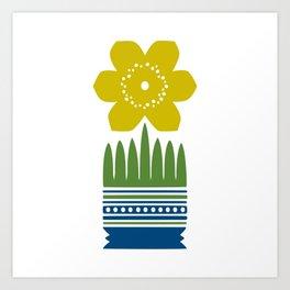 Nordic Yellow Flower Art Print