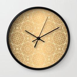 Floral luxury mandala pattern Wall Clock
