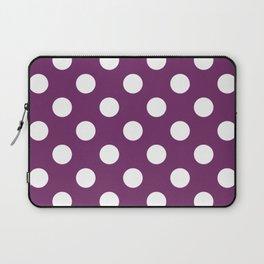 Byzantium - violet - White Polka Dots - Pois Pattern Laptop Sleeve