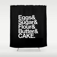 cake Shower Curtains featuring Cake by Outside In