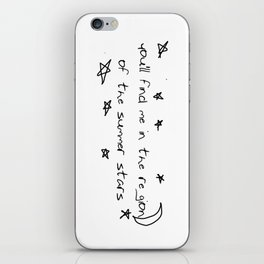 you'll find me in the region of the summer stars (niall) iPhone Skin