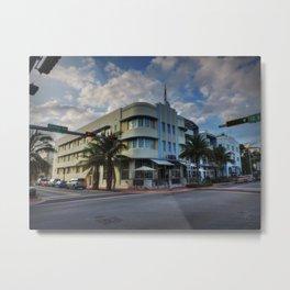 South Beach - Collins Avenue 001 Metal Print