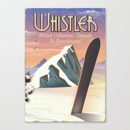 Whistler British Columbia Canadian Snowboarding Canvas Print