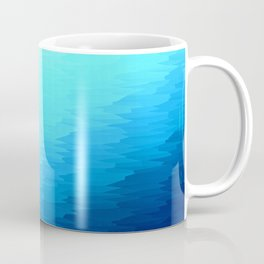 Turquoise Blue Texture Ombre Coffee Mug