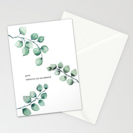 Grow wherever you are planted watercolor florals Stationery Cards