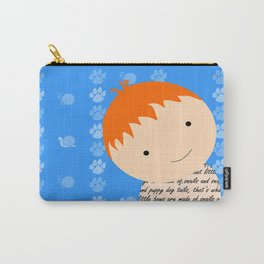 Snails and Puppy Dog Tails Red Headed Little Boy Carry-All Pouch