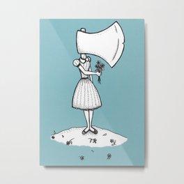 Nancy Can't Even (Aqua Background) Metal Print