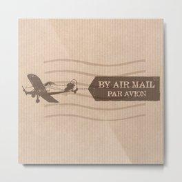 Par Avion Metal Print