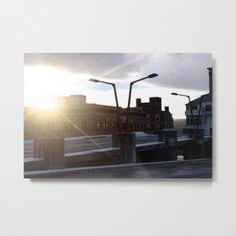 Sunset on the Parking Garage Metal Print